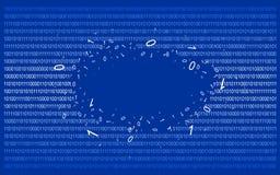Code binaire sur v1 bleu Photos libres de droits