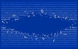 Code binaire sur v2 bleu Photographie stock