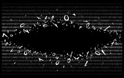 Code binaire sur v2 noir Image stock