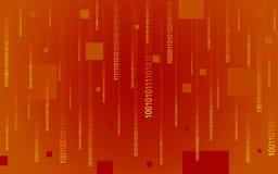 Code binaire tombant sur le rouge Photo stock