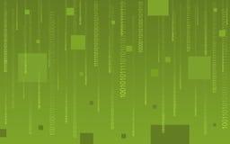 Code binaire tombant sur le vert Images stock