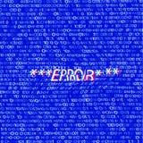 Code binaire tordu sur le bleu illustration stock