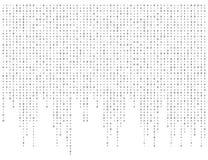 Code binaire zéro un wa de bannière de fond blanc de matrice beau Photo libre de droits