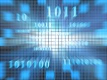 Code binaire (zoom rapide) illustration de vecteur