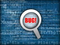 Code bug concept Royalty Free Stock Photo