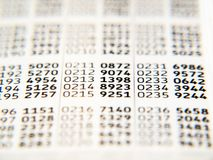 Code card Stock Photography