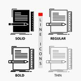 Code, coding, file, programming, script Icon in Thin, Regular, Bold Line and Glyph Style. Vector illustration. Vector EPS10 Abstract Template background stock illustration