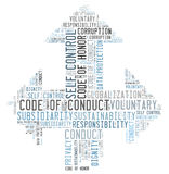 Code of conduct. Word cloud royalty free illustration