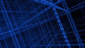 code 3D binaire formant un réseau Images stock