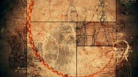 Code DA Vinci Anatomy Illustration stock illustratie