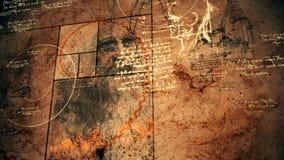 Code DA Vinci Illustration Placed Askew royalty-vrije illustratie