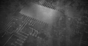 Code de circuit sur le béton grunge Photos libres de droits