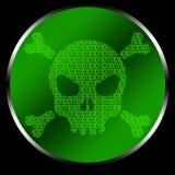 Code de crâne Image stock