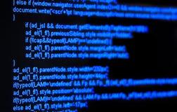 Code de HTML Image libre de droits