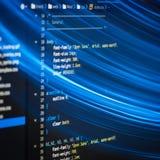 Code de HTML et de CSS Photographie stock libre de droits