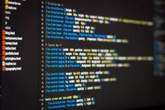 Code de HTML et de CSS Photos libres de droits