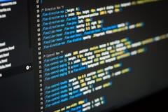Code de HTML et de CSS Photo libre de droits
