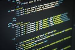 Code de HTML et de CSS Image stock