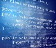 Code de Java illustration libre de droits