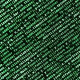 Code de Javascript dans l'éditeur de texte Concept de cyberespace de codage Écran de code se développant de Web photo stock