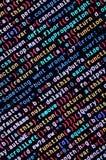 Code de Javascript dans l'éditeur de texte Concept de cyberespace de codage Écran de code se développant de Web photographie stock