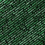 Code de Javascript dans l'éditeur de texte Concept de cyberespace de codage Écran de code se développant de Web images stock