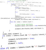 Code de la programmation de 3tude Photos libres de droits