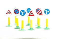 Code de la route, la sécurité routière et les règles de véhicule conduisant le panneau routier de loi joue Images stock
