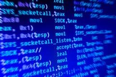 Code de langage de programmation d'Assemblée Photo stock