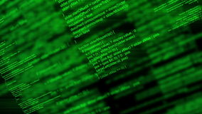 Code de programmation de manuscrit animé abstrait d'ordinateur comme fond de technologie illustration libre de droits