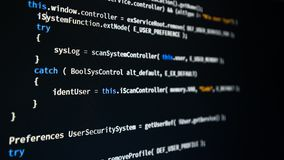Code de programmation de programmateur de logiciel image stock