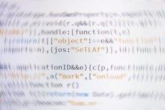 Code de programmation de programmateur de logiciel images stock