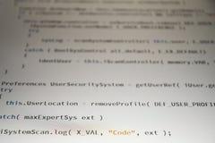 Code de programmation de programmateur de logiciel sur le fond blanc images libres de droits