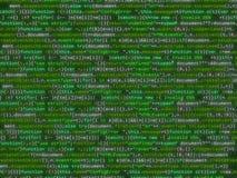 Code de programme miroitant le bakcground coloré Photo libre de droits