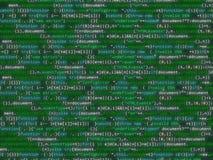 Code de programme miroitant le bakcground coloré Photographie stock libre de droits