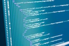 Code de Web de HTML photos stock