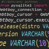 Code de Pyton Photos libres de droits
