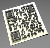 Code de QR Photographie stock libre de droits