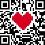 Code de QR de l'amour illustration stock