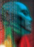 Code de technologie illustration stock