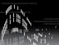 Code Dependency. Binary code is featured in an abstract technology illustration Royalty Free Stock Photo