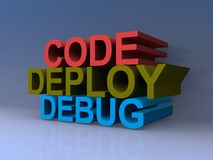 Code deploy debug Royalty Free Stock Images
