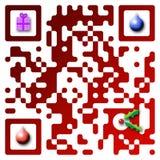 Code der frohen Weihnacht-QR Lizenzfreies Stockfoto