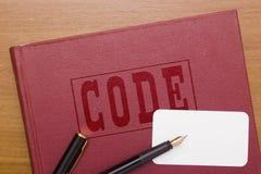 Code des lois photographie stock libre de droits