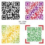 Code des Vektors QR Eine Auswahl von mehrfarbigen Codes Elemente für Ihre Auslegung lizenzfreie abbildung