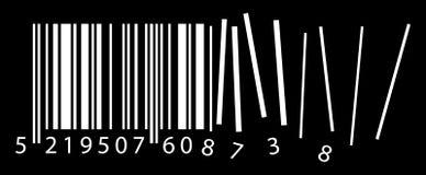 Code ean déchiffré par vecteur Images libres de droits