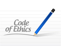 Code of ethics message illustration design. Over a white background Royalty Free Stock Images