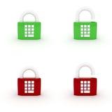 Code hanging lock Stock Photo