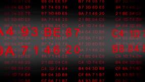 Code hexadécimal - flux de données - concevez le rouge banque de vidéos