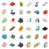 Code icons set, isometric style. Code icons set. Isometric style of 36 code vector icons for web isolated on white background Royalty Free Stock Image
